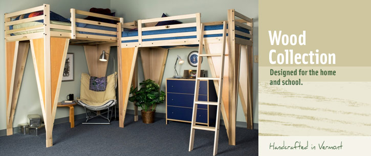 TimberNest loft beds. Wood bedlofts, bunk beds, and loft ...